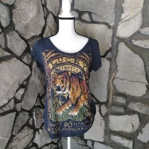 Lucky Brand Loud Graphic Tiger Too